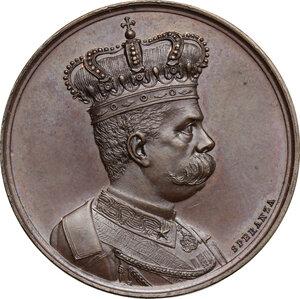 obverse: Umberto I (1878-1900).. Medaglia a ricordo delle Campagne d Africa