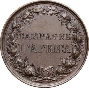 reverse: Umberto I (1878-1900).. Medaglia a ricordo delle Campagne d Africa