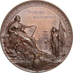reverse: Umberto I (1878-1900). Medaglia 1898 per il cinquantenario dello Statuto Albertino