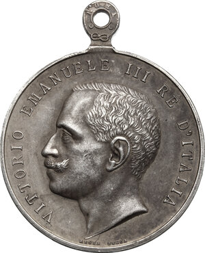 obverse: Vittorio Emanuele III (1900-1943). Medaglia Ricordo della Real Casa, I tipo