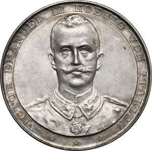 obverse: Vittorio Emanuele III (1900-1943).. Medaglia 1902 per la visita del Re a Berlino
