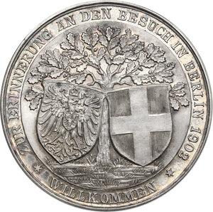 reverse: Vittorio Emanuele III (1900-1943).. Medaglia 1902 per la visita del Re a Berlino