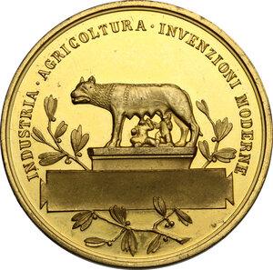 reverse: Vittorio Emanuele III (1900-1943).. Medaglia 1911 in occasione delle Esposizioni Internazionali Riunite