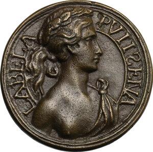 obverse: Polissena Romagnola (1418-1456), figlia del Gattamelata.. Medaglia, XV sec