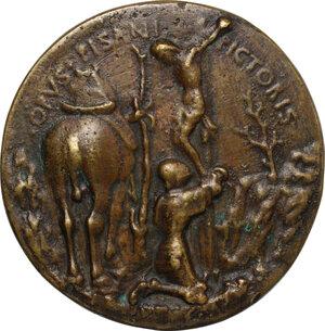 reverse: Domenico Novello Malatesta (1429-1465), Signore di Cesena.. Medaglia 1445