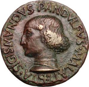 obverse: Sigismondo Pandolfo Malatesta (1432-1468), Signore di Rimini.. Medaglia 1447