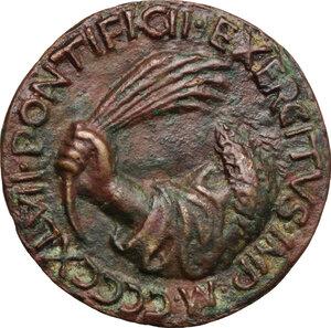 reverse: Sigismondo Pandolfo Malatesta (1432-1468), Signore di Rimini.. Medaglia 1447