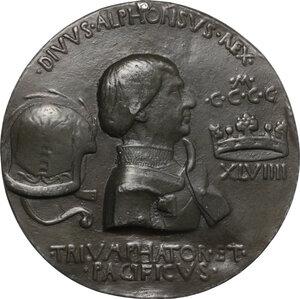 obverse: Alfonso V Re di Napoli e di Sicilia (1396-1458). Medaglia fusa 1449
