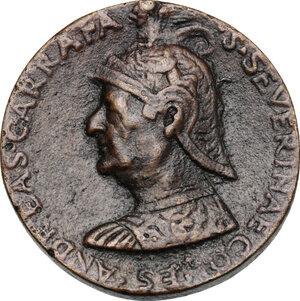 obverse: Andrea Carafa (1496-1526), Conte di Santa Severina, Vicerè di Napoli.. Medaglia, primo quarto del XVI sec