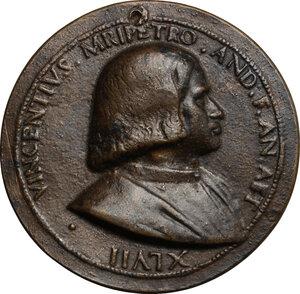 obverse: Vincenzo Malipiero (1476-1538), magistrato.. Medaglia 1523