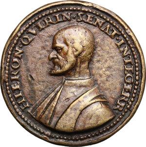 obverse: Girolamo Querini (1461-1543), Senatore veneziano.. Medaglia 1540
