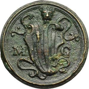 reverse: Venezia.  Marcantonio Grimani (1484-1566), senatore.. Medaglia 1553 con bordo modanato