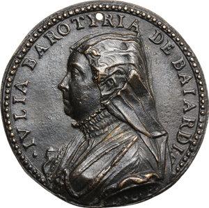 obverse: Giulia Barattieri Baiardi (XVI sec.).. Medaglia unifacie 1556