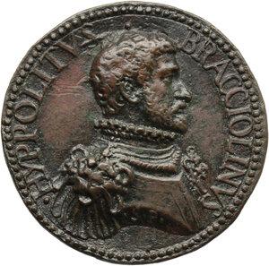 obverse: Ippolito Bracciolini (sec. XVI), comandante della fanteria di Venezia. Medaglia (1560)