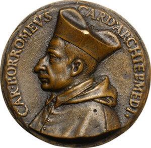 obverse: Carlo Borromeo (1538-1584), Cardinale ed Arcivescovo di Milano. Medaglia celebrativa s.d. (1578)