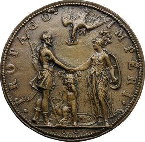 reverse: Enrico IV Re di Francia (1589-1610) e Maria de Medici. Medaglia 1603