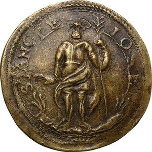 obverse: Giulio Cesare Lampugnano (sec. XVII), mercante milanese. Medaglia o tessera 1630 da lire sei