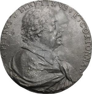 obverse: Pietro da Cortona (1596-1669), pittore e architetto.. Placchetta unifacie