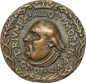 obverse: Alvise Leonardo Mocenigo (1583-1657), comandante supremo a Candia contro i Turchi.. Medaglia 1650