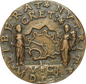 reverse: Alvise Leonardo Mocenigo (1583-1657), comandante supremo a Candia contro i Turchi.. Medaglia 1650