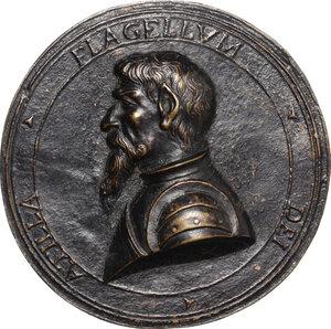 obverse: Attila (406-453), re degli Unni.. Medaglia unifacie, XVII sec