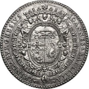 obverse: Giovanni Battista Borghese (1639-1717). Medaglia 1666 per la ricostruzione della Chiesa di San Gregorio Magno di Monte Porzio Catone