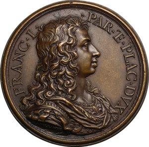obverse: Francesco I Farnese (1694-1727).. Medaglia 1696 con bordo modanato