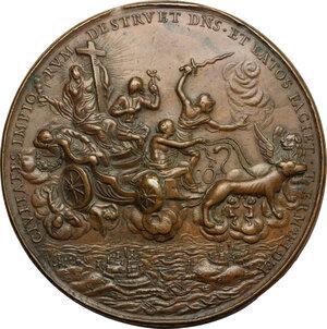 reverse: Antonio Ottoboni (1646-1720), capitano generale di Santa Romana Chiesa. . Medaglia s.d. primo quarto del XVIII secolo