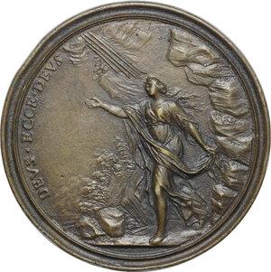 reverse: Bernardino Perfetti (1681-1747), poeta e professore senese.. Medaglia 1725 con bordo modanato