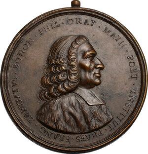 obverse: Francesco Maria Zanotti (1692-1777), scrittore e filosofo.. Medaglia XVIII sec