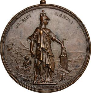 reverse: Francesco Maria Zanotti (1692-1777), scrittore e filosofo.. Medaglia XVIII sec