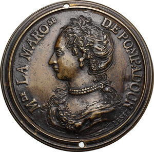 obverse: Jeanne Antoinette Poisson, marchesa di Pompadour, detta Reinette (\