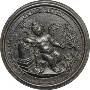 reverse: Floriano Toselli (1699-1768), scrittore cappuccino noto come Bernardo da Bologna.. Medaglia fusa, a ricordo di Bernardo Toselli Superiore dei Chierici di San Paolo in Bologna