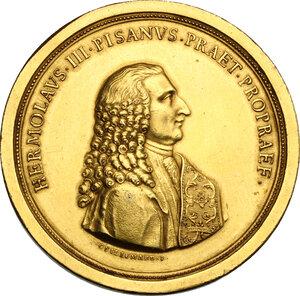 obverse: Almorò Pisani (1759-1836), podestà e vice capitano di Verona.. Medaglia 1791