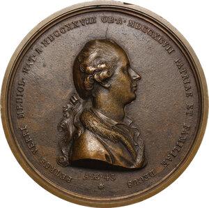 obverse: Pietro Verri (1728-1797), economista e filosofo.. Medaglia fusa 1797, commemorativa