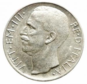 reverse: Casa Savoia. Vittorio Emanuele III. 10 lire 1927 Biga. Due rosette. SPL