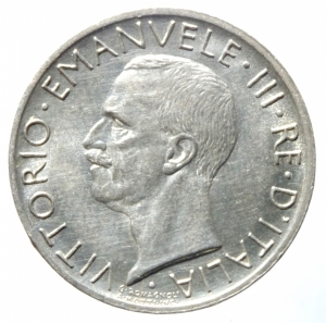 reverse: Casa Savoia. Vittorio Emanuele III. 5 Lire 1930. Aquiletta. Gig.77. qFDC.