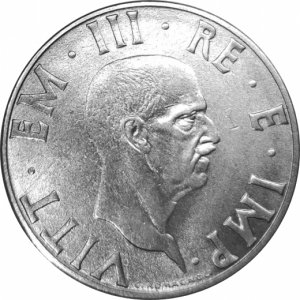obverse: Casa Savoia. Vittorio Emanuele III. 2 Lire 1939 XVII Impero magneticaqFDC. rf
