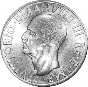 obverse: Casa Savoia. Vittorio Emanuele III. 1 Lira 1940 XVIII Impero magneticoqFDC. Segnetto al ciglio rf