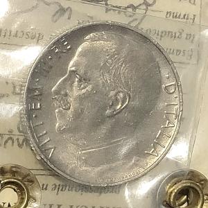obverse: Casa Savoia. Vittorio Emanuele III. 50 centesimi 1925 Rigato. qFDC segnetti. Periziata Numismatica Tintinna Rf10