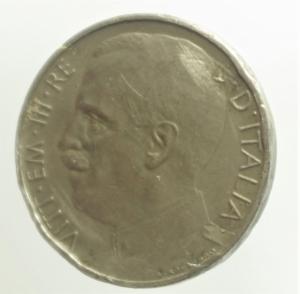 reverse: Casa Savoia. Vittorio Emanuele III. 50 Centesimi 1919 bordo liscio.MB.R