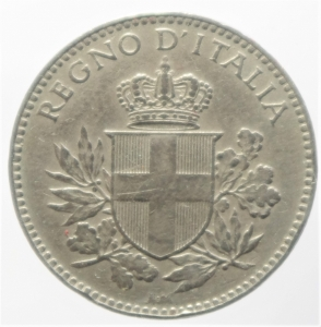 reverse: Casa Savoia. Vittorio Emanuele III. 20 centesimi Esagono 1918. Contorno rigato. BB+. NC.