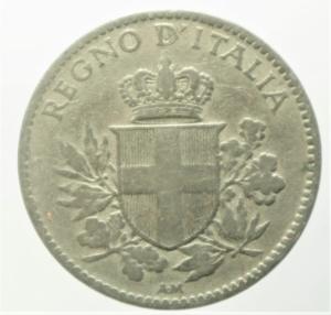 reverse: Casa Savoia. Vittorio Emanuele III. 20 Centesimi 1920.Bordo liscio. qBB. R