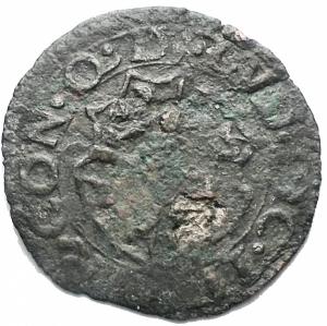 reverse: MIRANDOLA. Ludovico II Pico (1550-1568). Sesino, con stemma e gallo su caduceo alato. MIR 513. MI, gr.0,68. BB+. RR