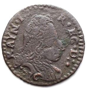 obverse: Modena. Rinaldo d Este (1706-1737). Muraiola da 2 bolognini 1716. MI.
