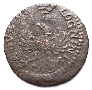 reverse: Modena. Rinaldo d Este (1706-1737). Muraiola da 2 bolognini 1716. MI.