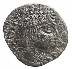 obverse: Ferdinando I. 1454-1498. Cavallo. Ae. Peso gr 1,94.   Bel ritratto, patina verde nera