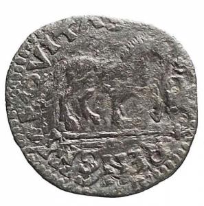 reverse: Ferdinando I. 1454-1498. Cavallo. Ae. Peso gr 1,94.   Bel ritratto, patina verde nera
