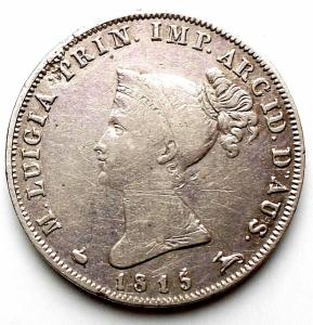 obverse: Parma. Maria Luigia. 10 Soldi 1815 Ag