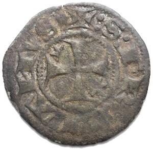 reverse: Perugia. Repubblica (ordinanza del 1471) Sestino. D/ P.  R/ Croce. MI, 1.09 gr. 19,64 mm. Biaggi 1865.